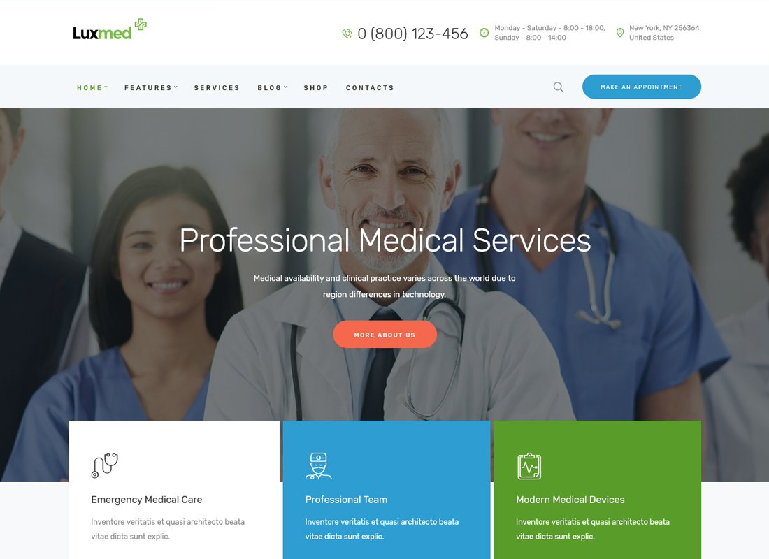 LuxMed | Medicine & Healthcare WordPress Theme