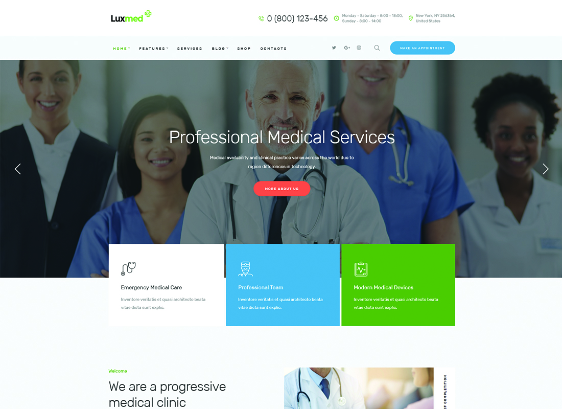 LuxMed - Medicine & Healthcare WordPress Theme