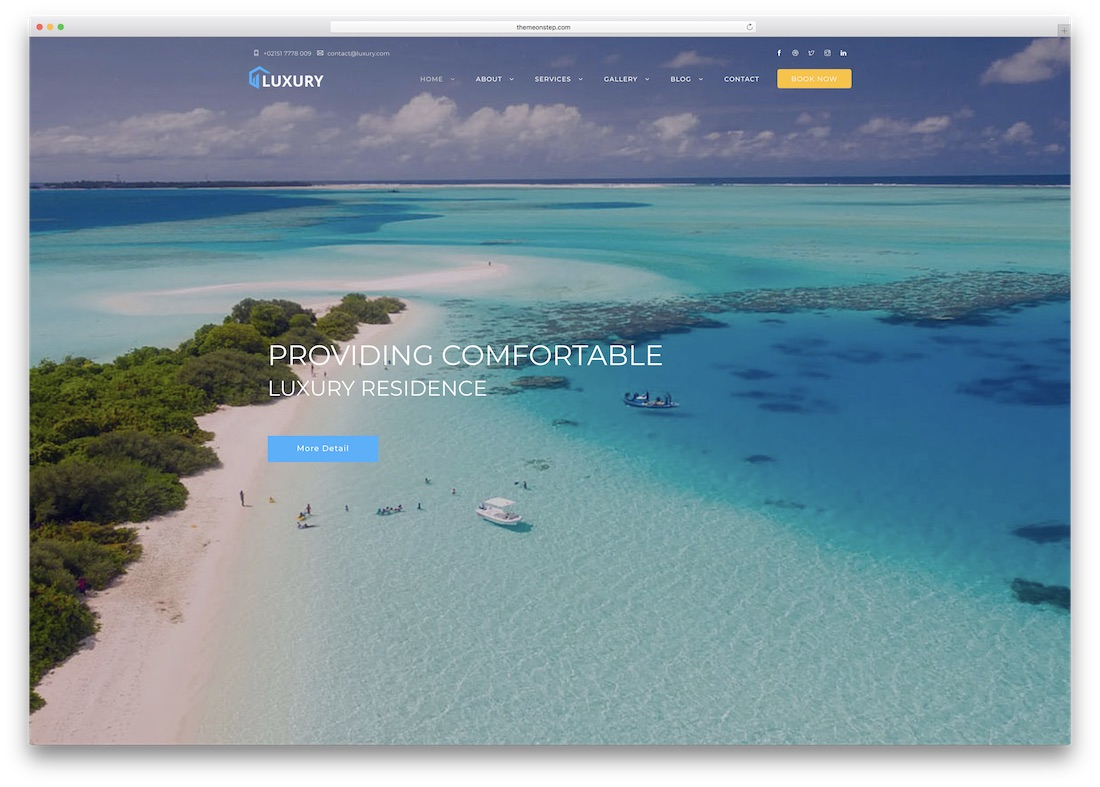 luxury html5 hotel website template