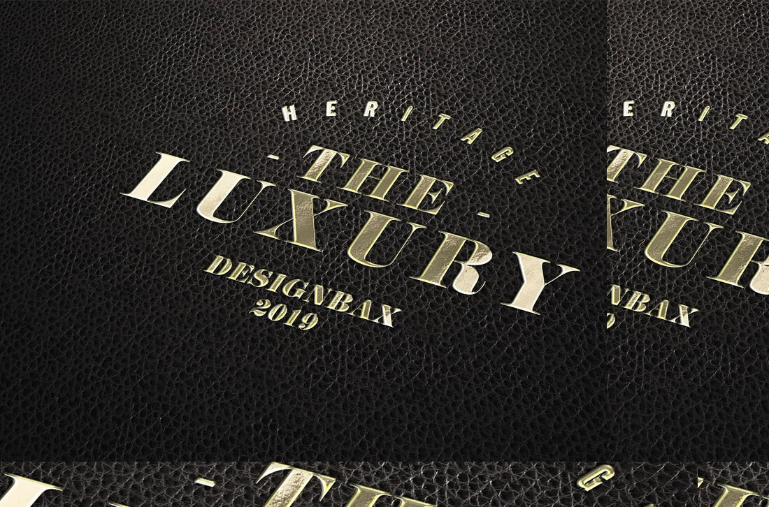 luxury logo mockup template