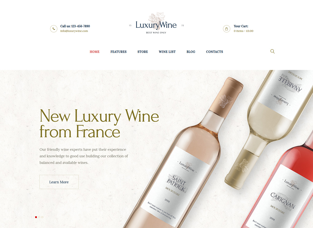 Luxury Wine - Wine House, Winery & Wine Shop WordPress Theme