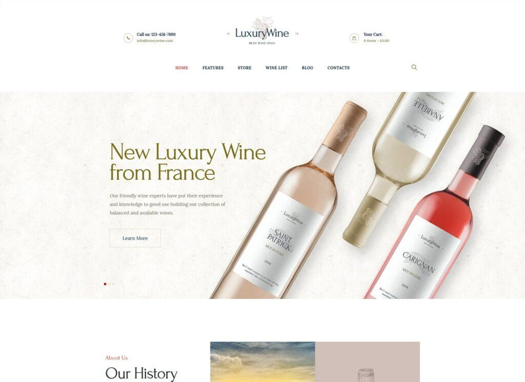 Luxury Wine   Liquor Store & Vineyard WordPress Theme + Shop