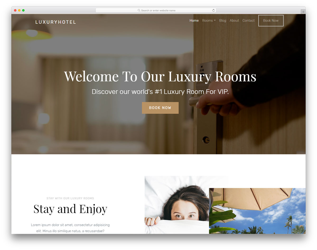 2ab56717c9d2d3 21 Top Free Hotel Website Templates To Attract Millennials - Colorlib