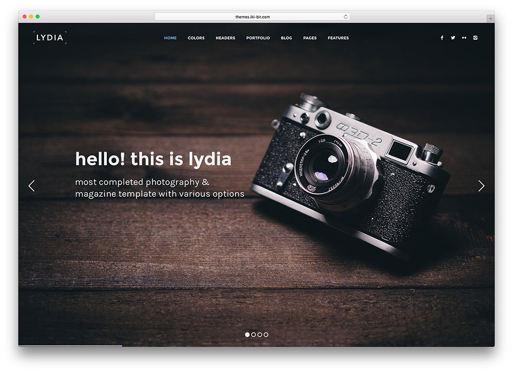 Top 20 HTML5 Photography Website Templates 2017 - Colorlib