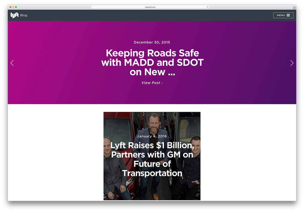 lyft-car-hire-company-blog-with-squarespace