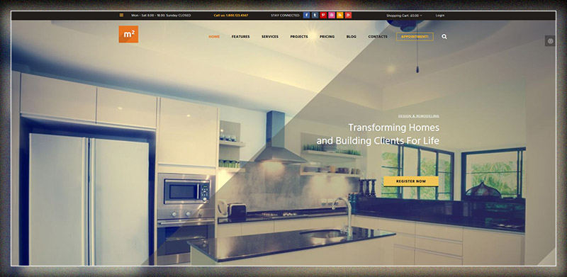 m2 - Home Maintenance, Repair & Building WP Theme