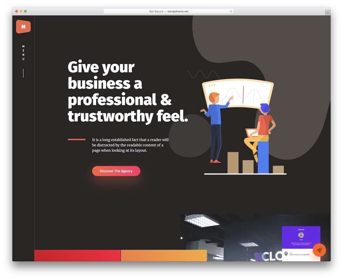 maacuni wordpress theme for freelancers