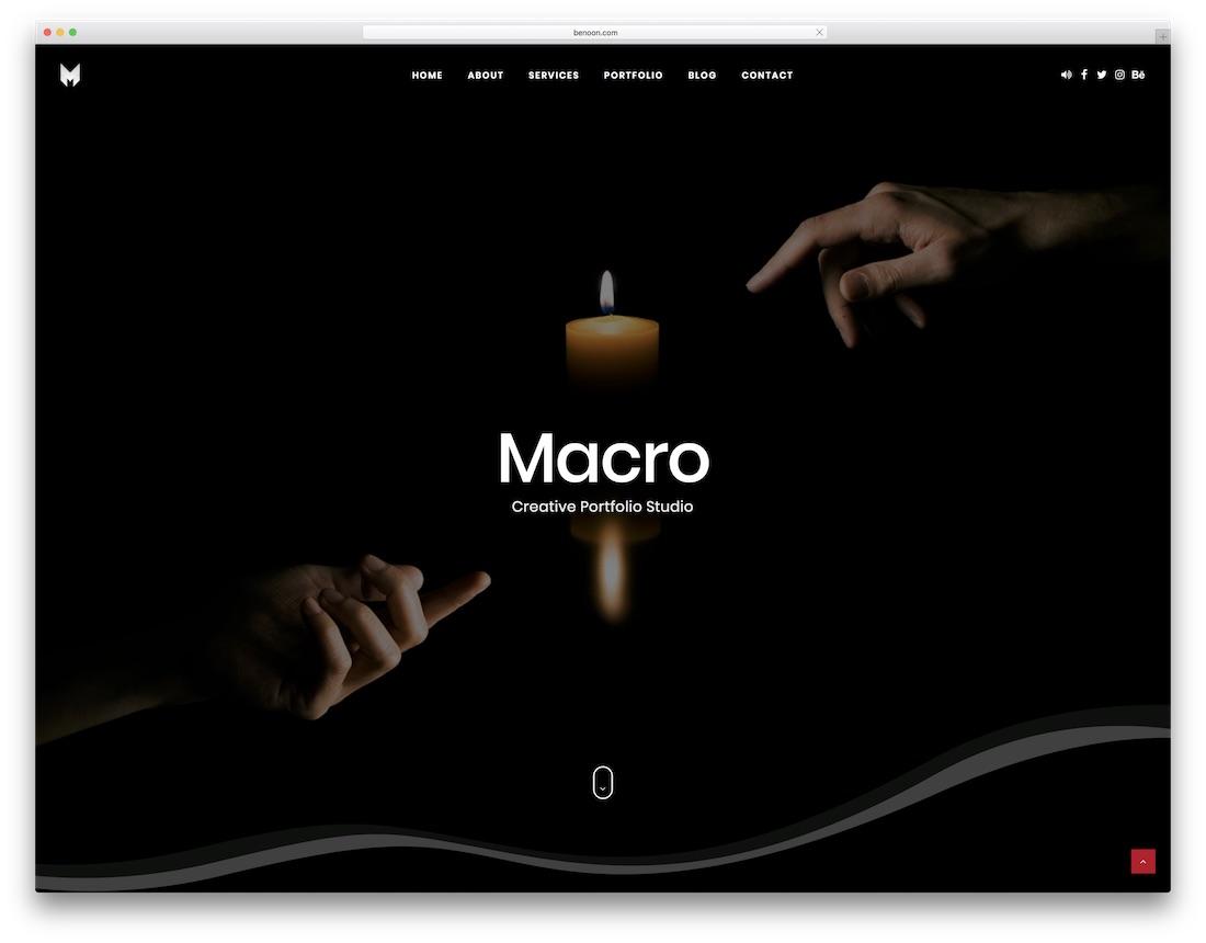 macro freelancer website template