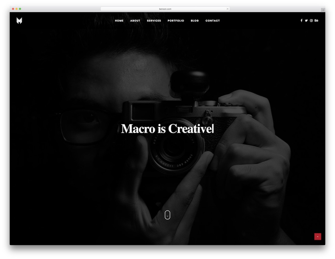 macro html5 one page website template