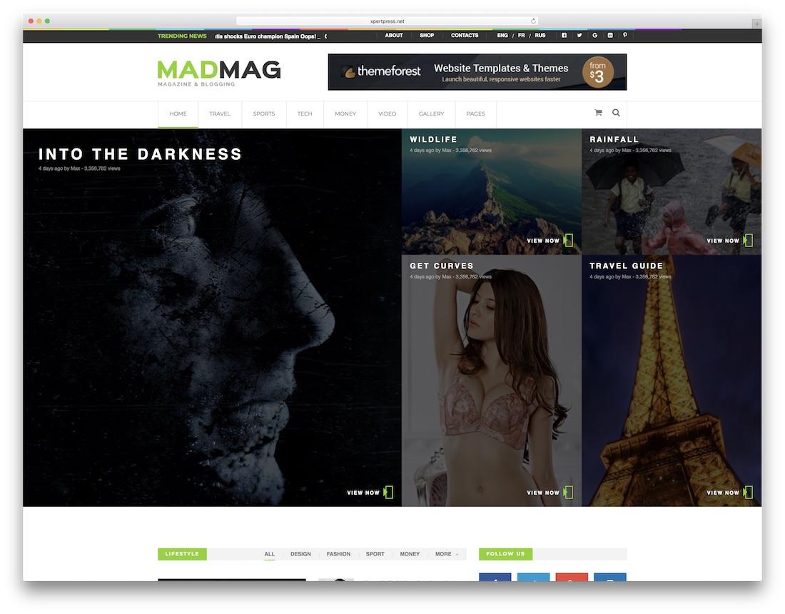 Mad Magazine Video Website Template