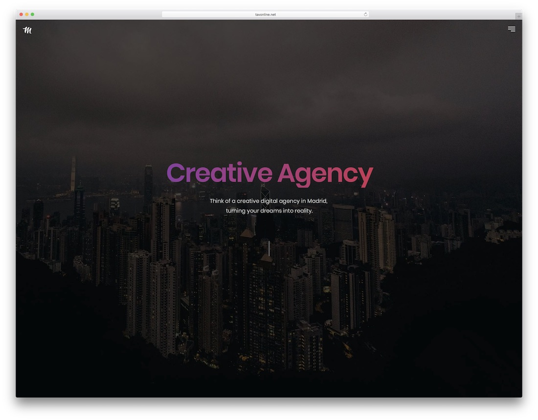 madrid artist website template