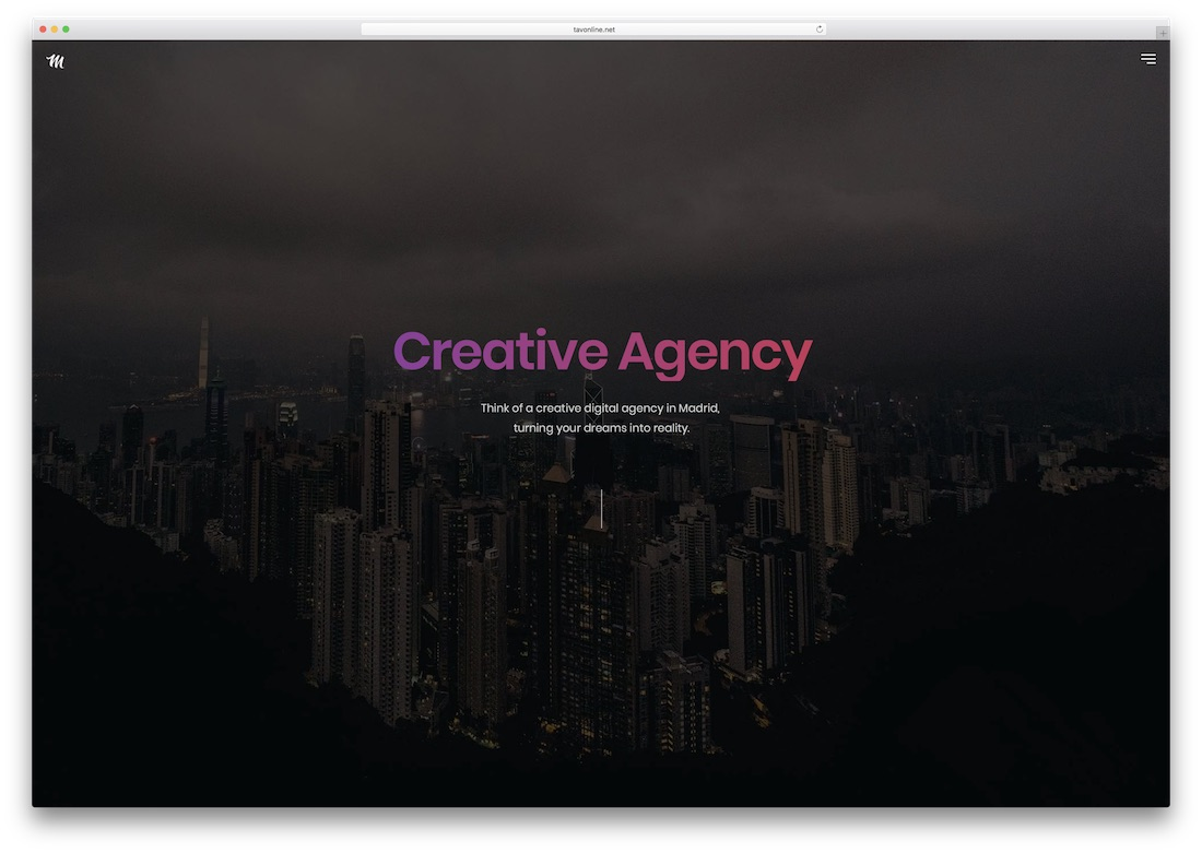 madrid creative photography website template