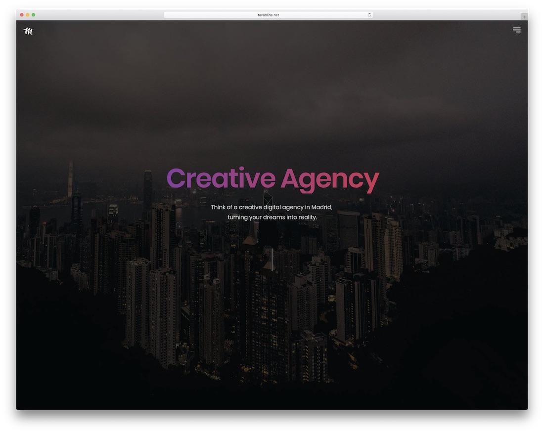 madrid gallery website template