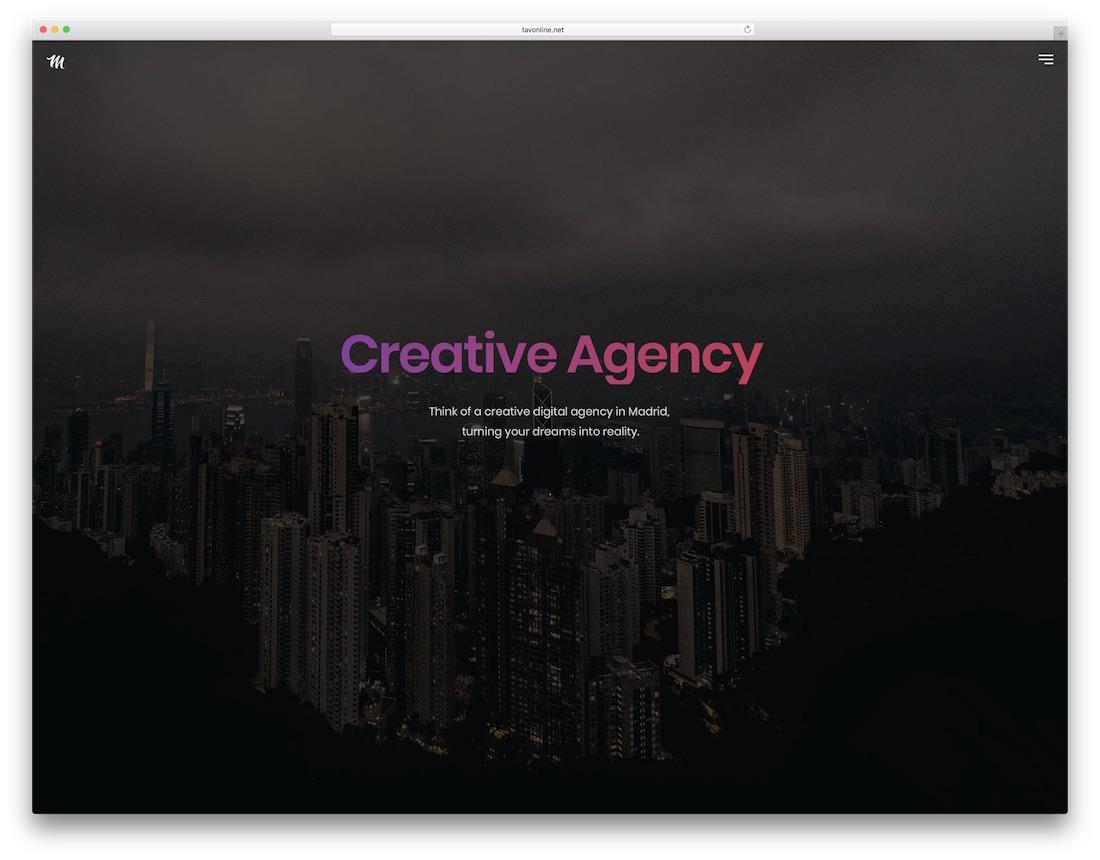 madrid graphic design website template