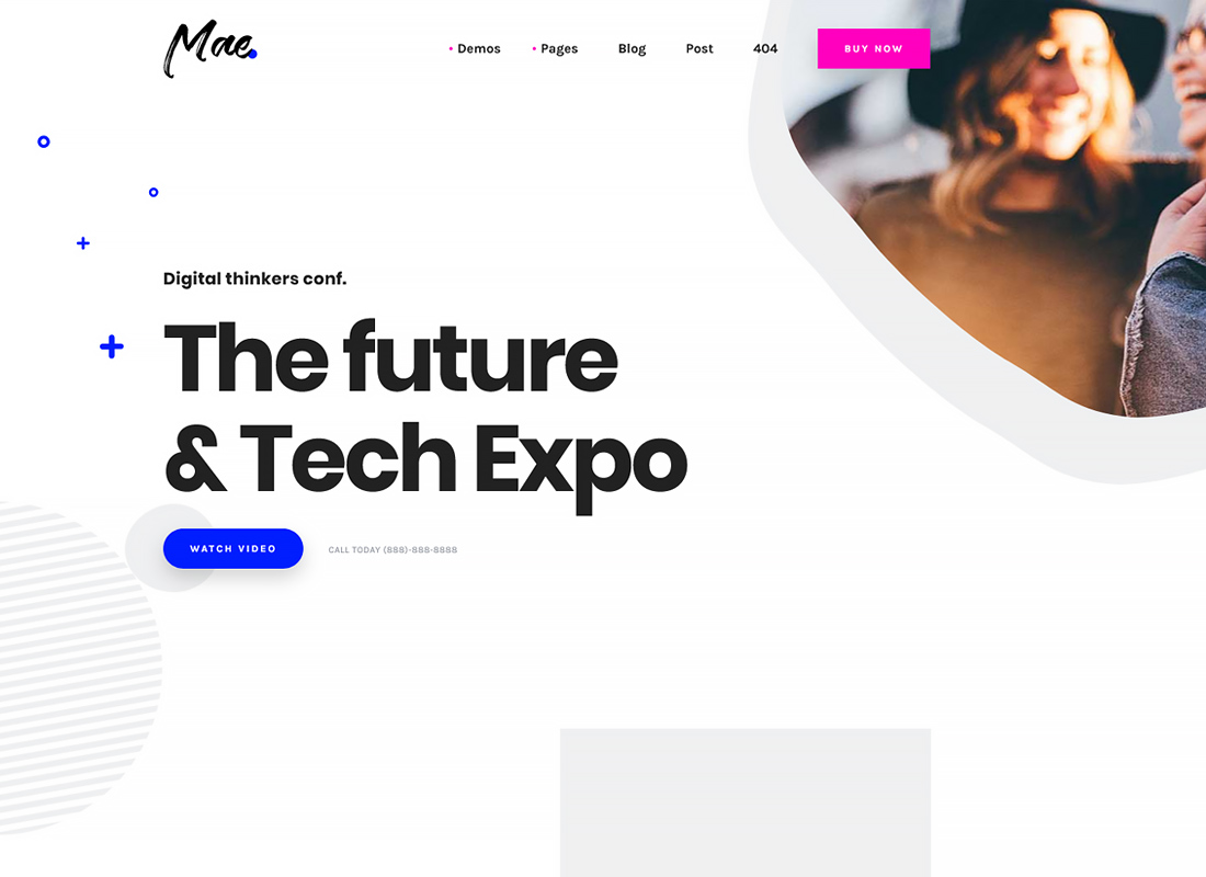 Mae - A Gutenberg & WordPress Theme