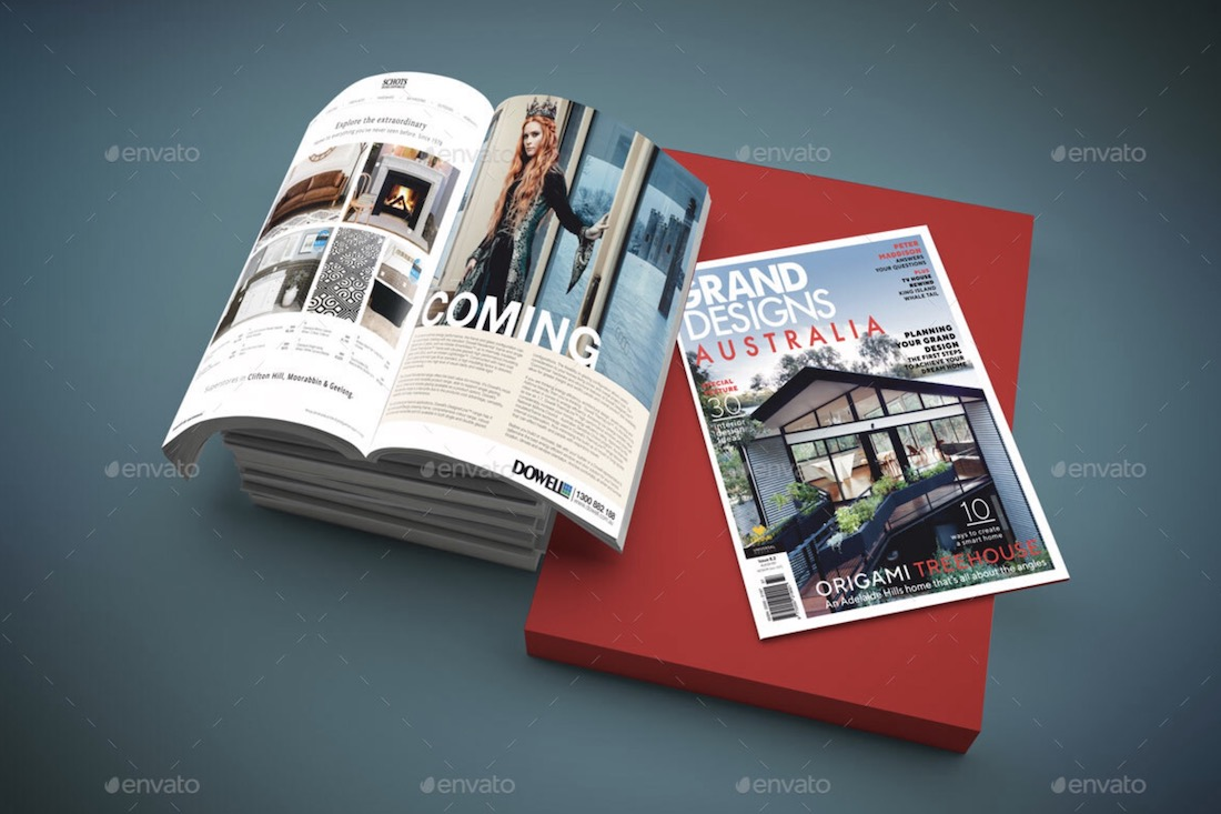 magazine cover mockup set