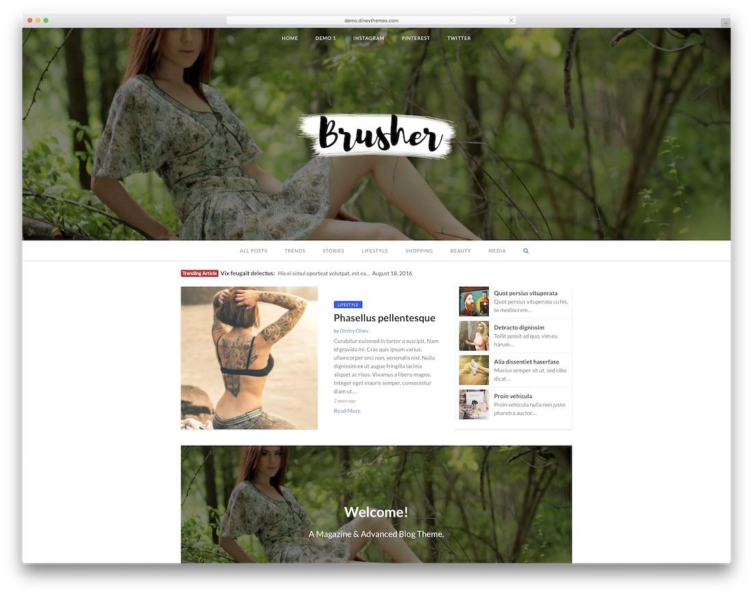 magazinex lite free news website template