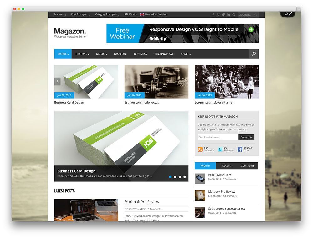 Magazon - Advanced, Responsive WP Magazine Theme