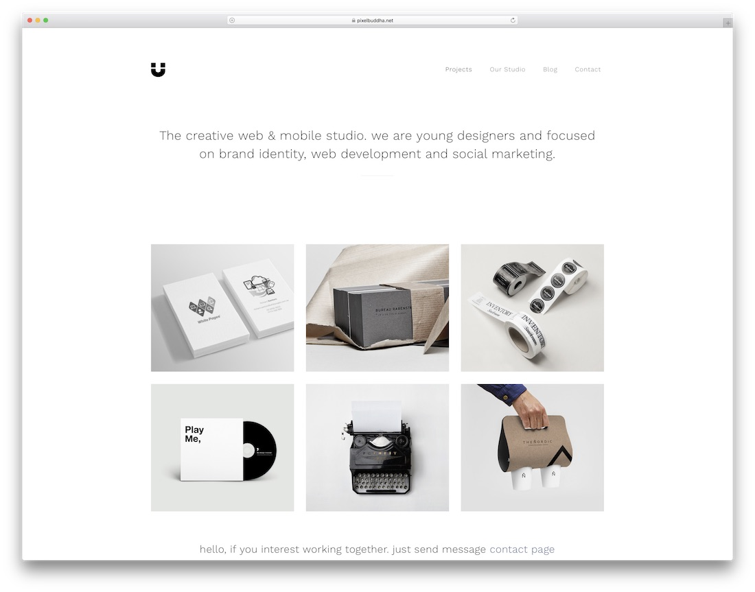 magnet portfolio website template