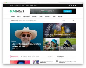Magnews2 Free Template