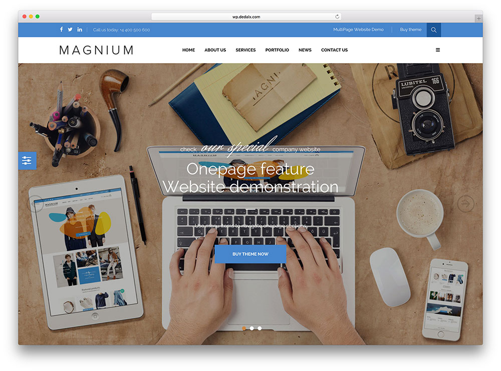 magnium - one page ecommerce theme