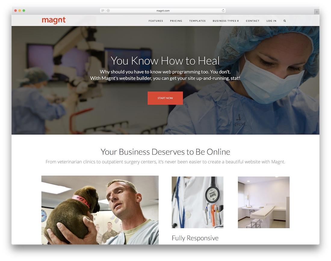 magnt medical website builder