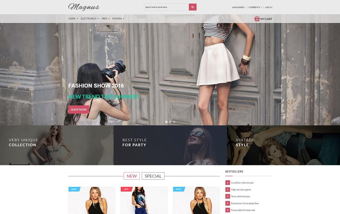magnus oscommerce template
