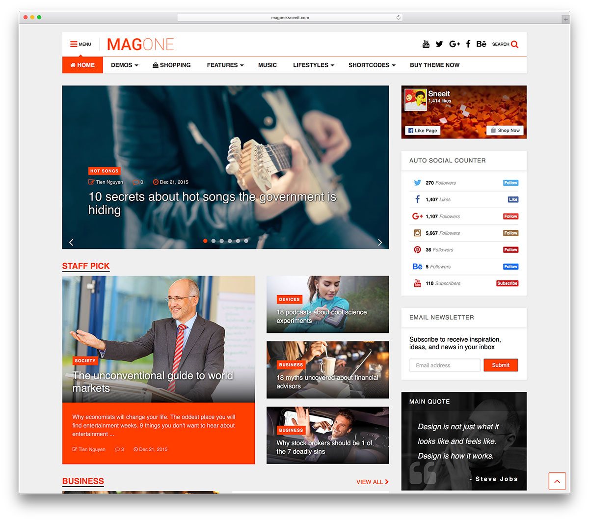 Magone creative magazine wordpress theme