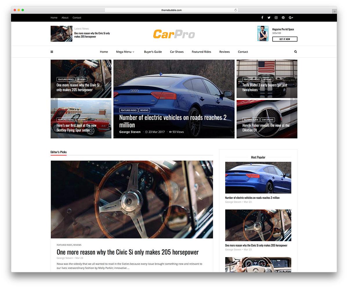 top 35 car / automotive wordpress themes 2019 - colorlib