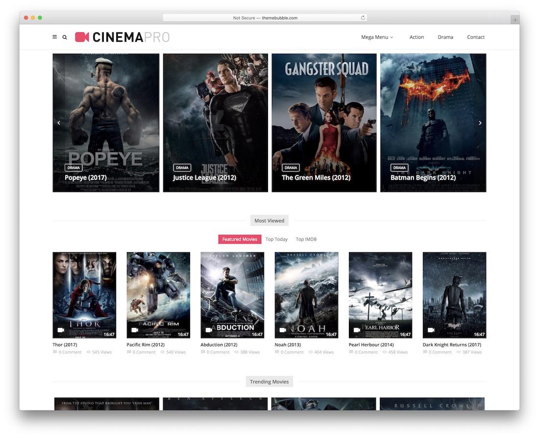 magplus cinema theater wordpress theme