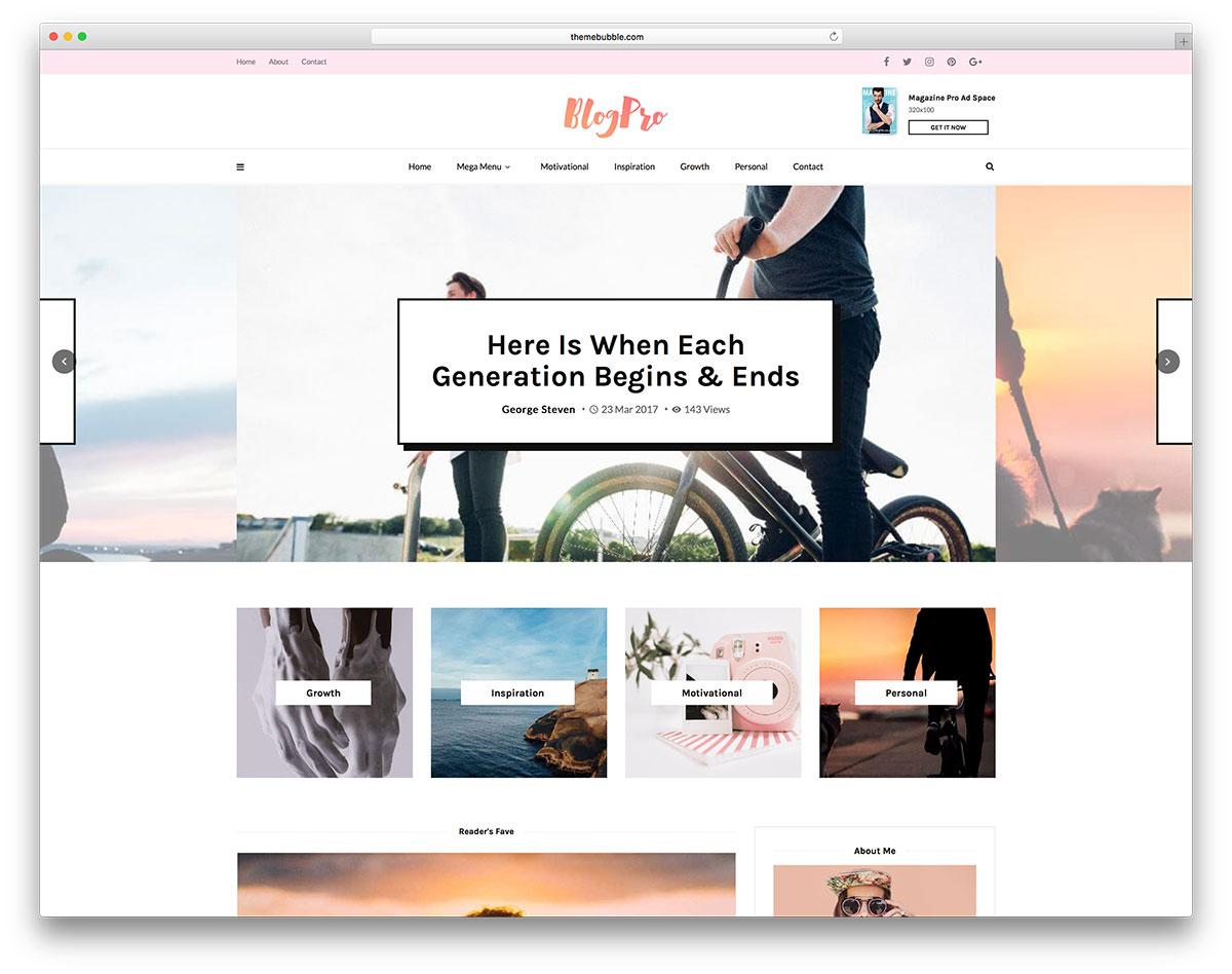 65+ Best Personal Blog WordPress Themes 2019 - Colorlib