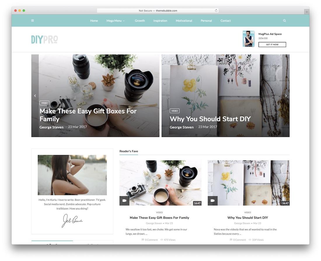 magplus diy blog wordpress theme