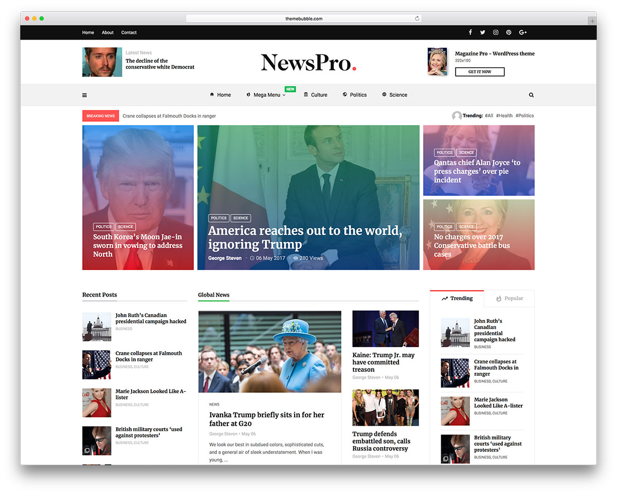 Top 50 News Magazine WordPress Themes 2018