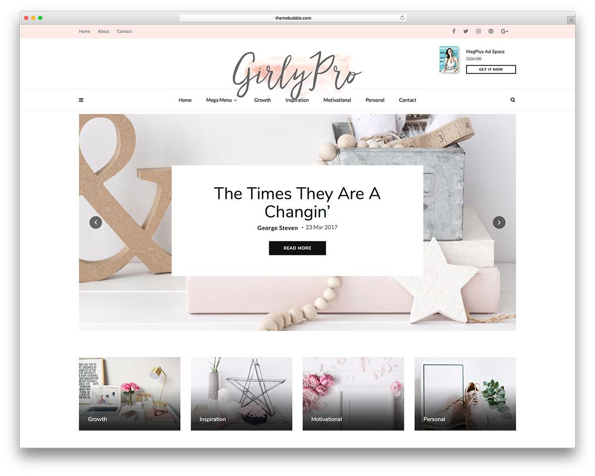 Top 29 Girly & Feminine WordPress Themes 2019 Colorlib