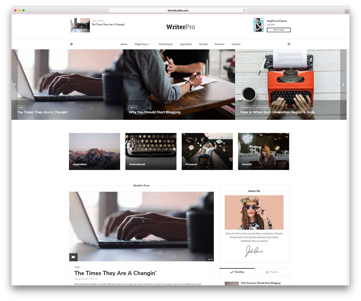 33 Beautiful & Simple WordPress Themes for Writers 2018 Colorlib