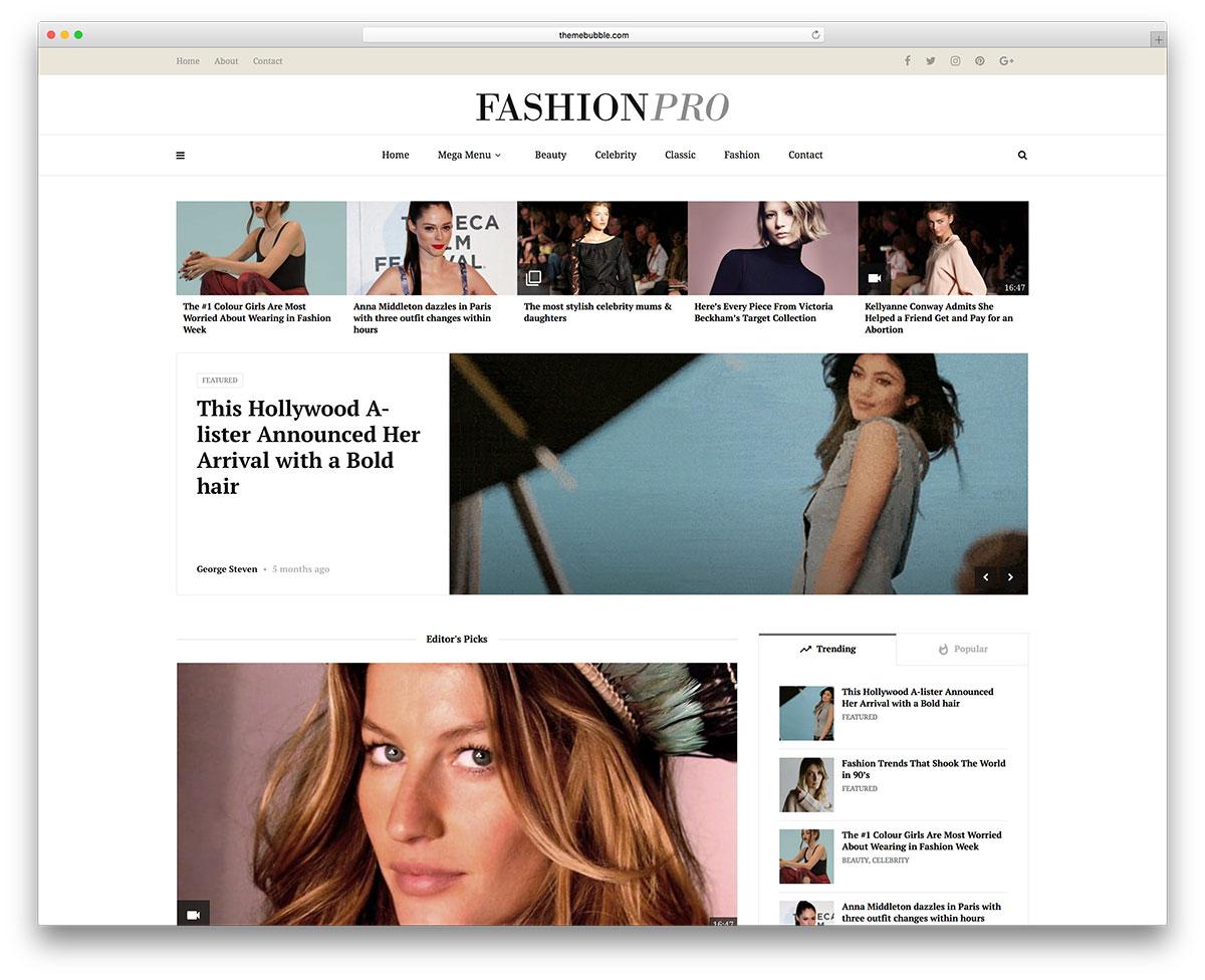 42 Best Fashion Blog & Magazine WordPress Themes 2019 - colorlib