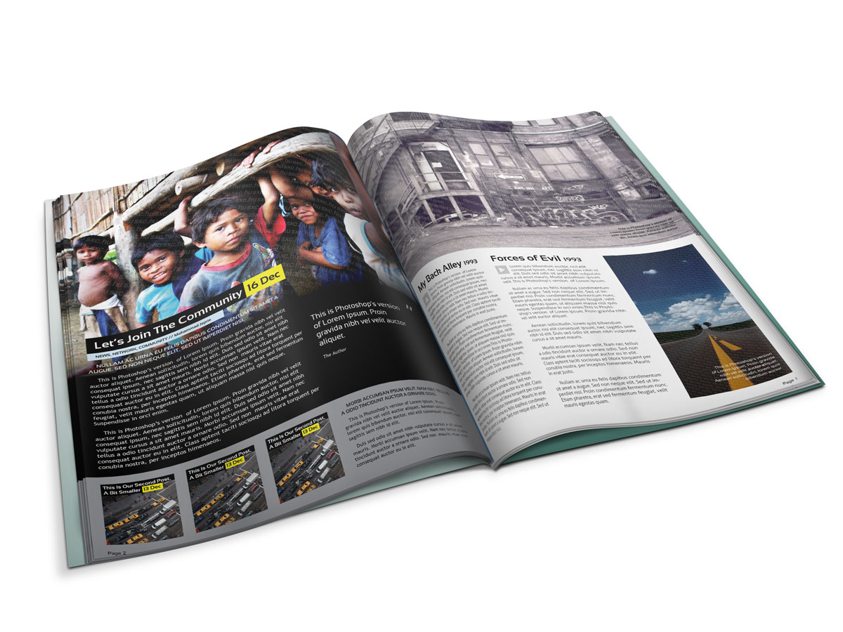 Maqueta de revistas