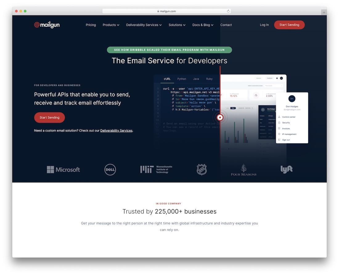 mailgun email platform