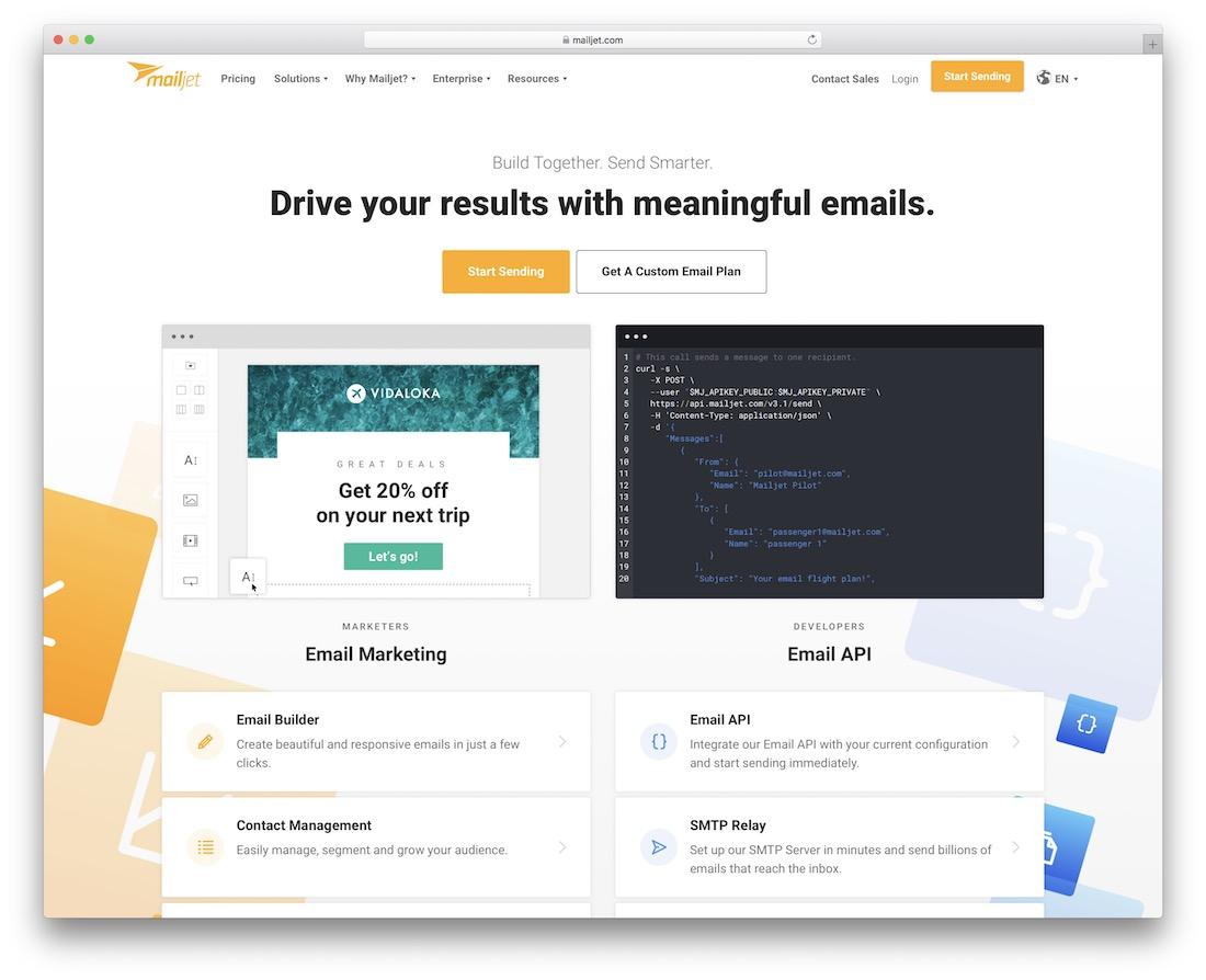 mailjet email platform