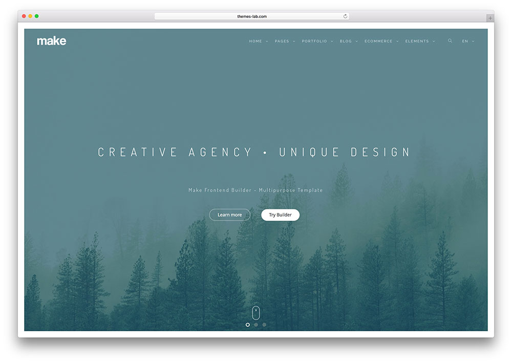parallax website template