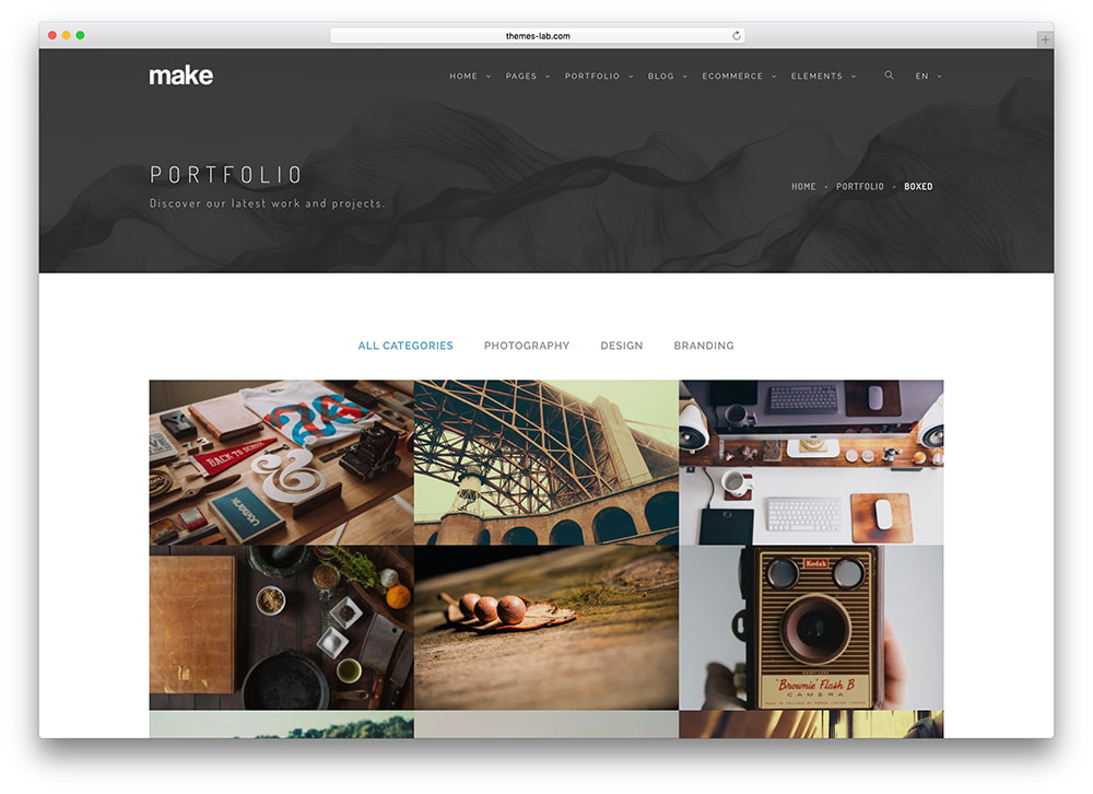 20 best html5 bootstrap portfolio website templates 2018 colorlib for Free bootstrap portfolio template