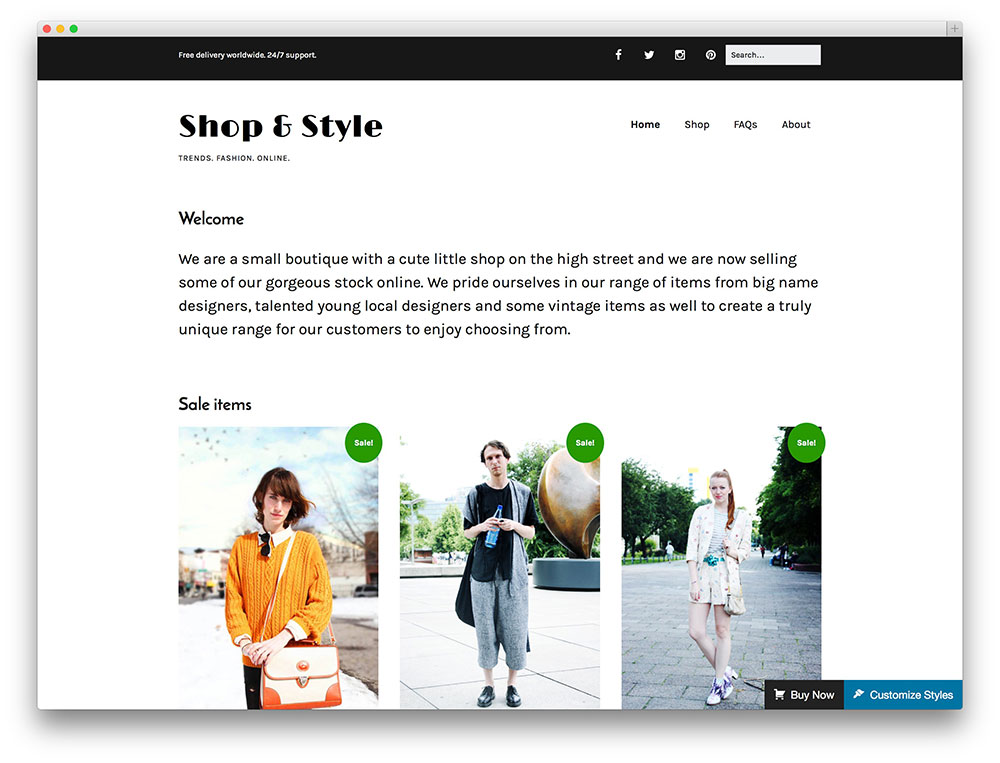 make WooCommerce theme