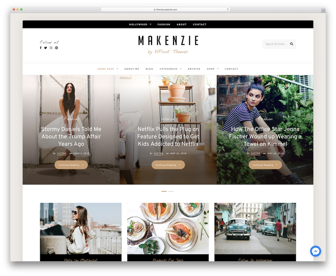 makenzie popular wordpress blog theme