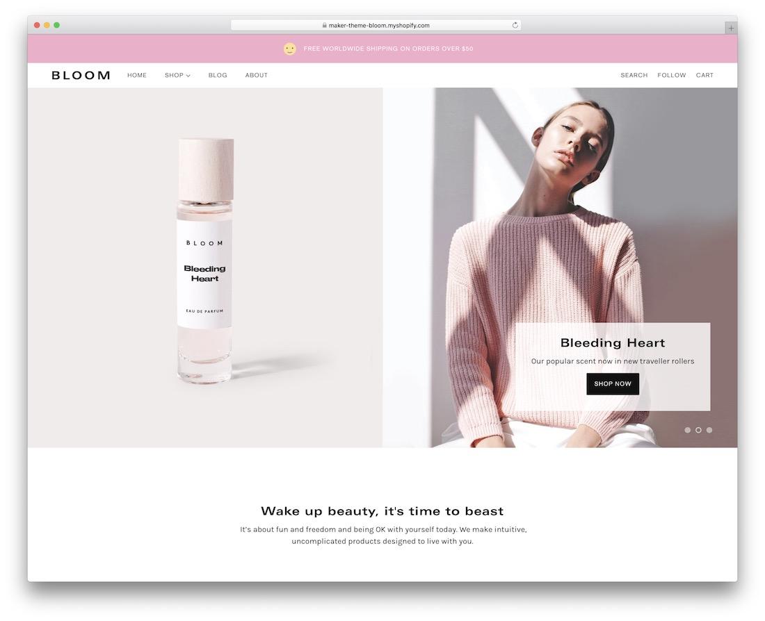 maker single product shopify theme