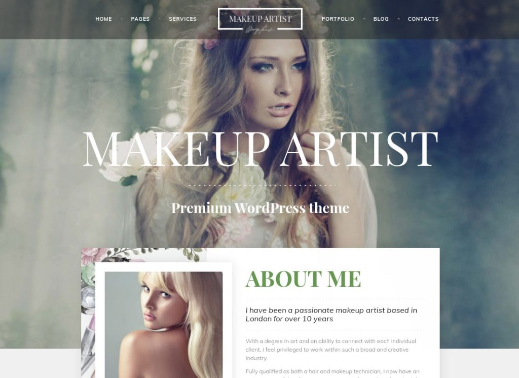 MakeUp Artist Pro | MakeUp Artist, Beauty and Hair Stylist WordPress Theme