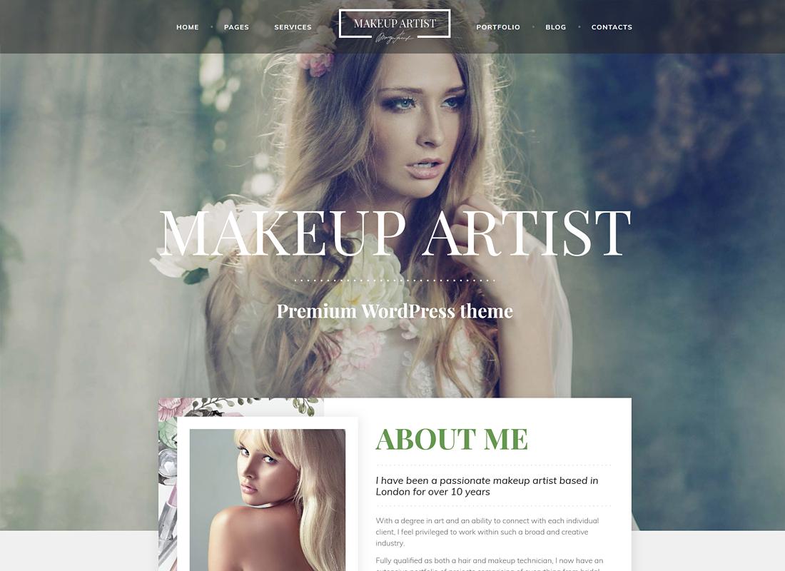 MakeUp ArtistPro | MakeUp Artist, Beauty and Hair Stylist WordPress Theme