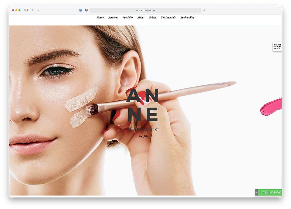 makup artist wordpress theme