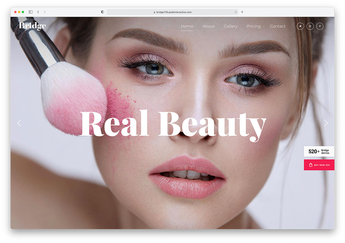 makup website design example
