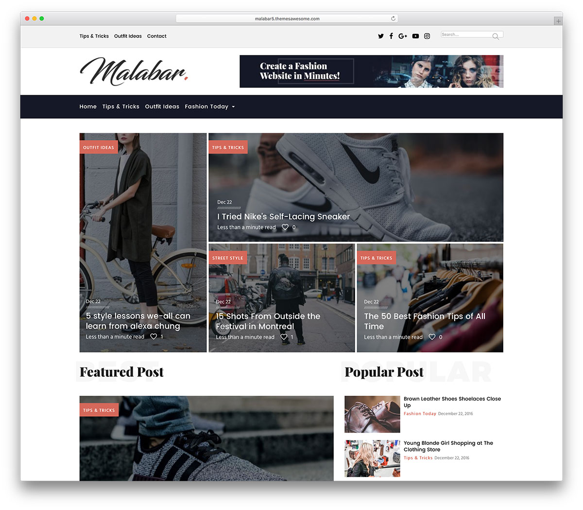 Best fashion wordpress theme 34