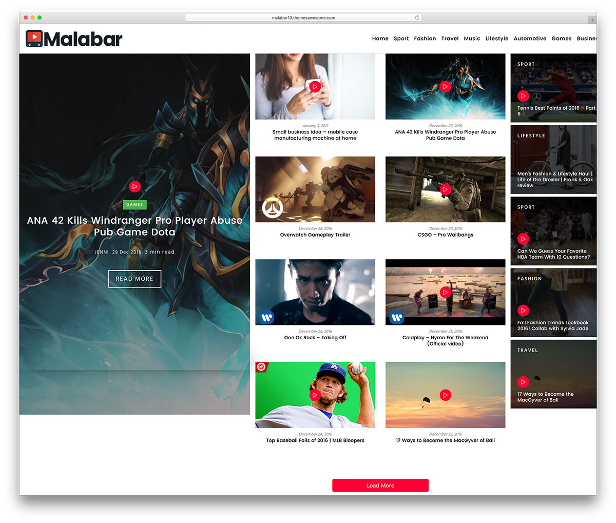 Malabar Is A Modern And Responsive High Performance Magazine Multipurpose Website Theme It S Resourceful Cutting Edge Toolkit For Constructing Youthful